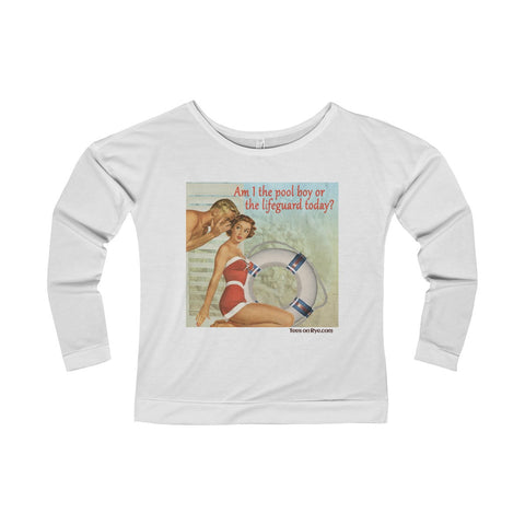 Adult Swim... on our Women's Terry Long Sleeve Scoopneck T-Shirt