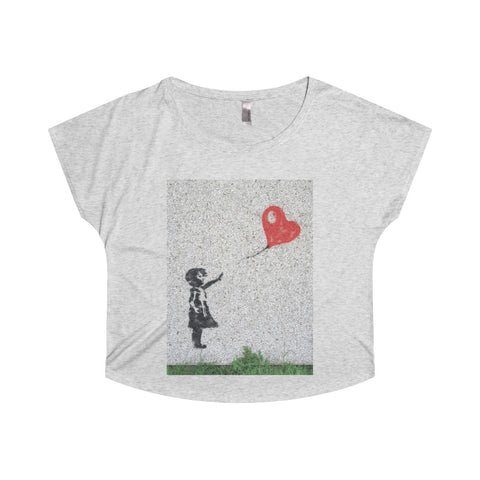 Love flies free.  On a Tri-Blend Dolman tee.