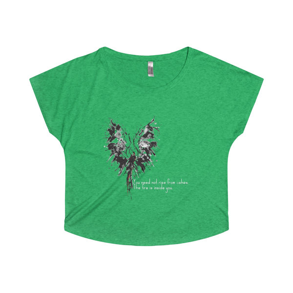 Abstract Phoenix with Inspiration on a Tri-Blend Dolman