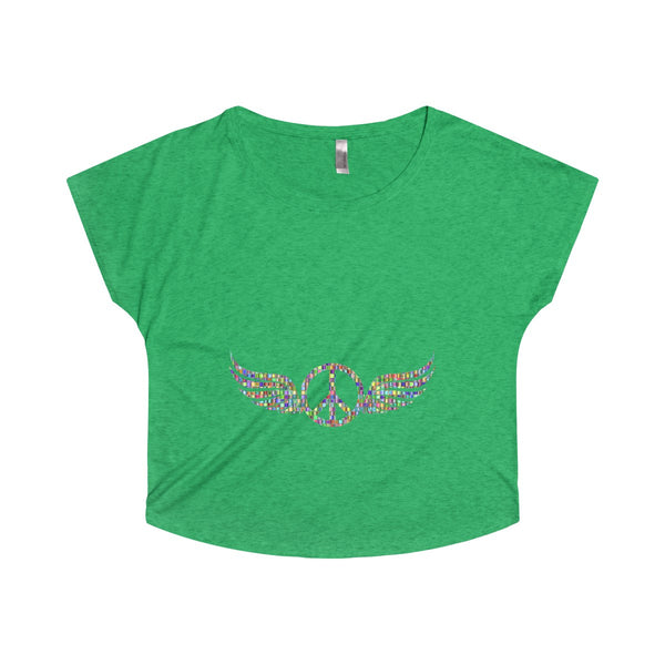 Wings of Peace on a Tri-Blend Dolman Tee