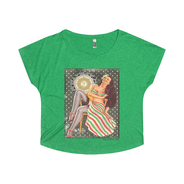 Irish Volunteer Pinup on a Tri-Blend Dolman