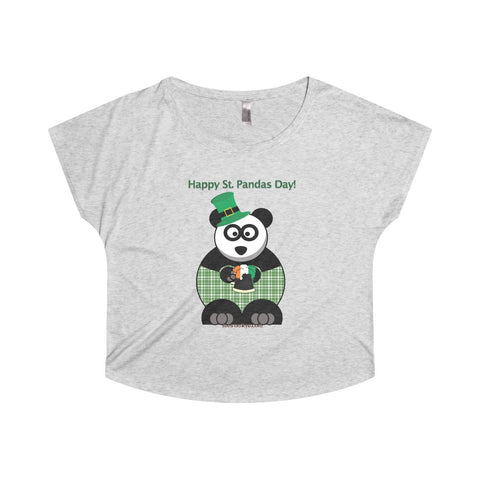 St Patty's Day Panda on a Tri-Blend Dolman Tee
