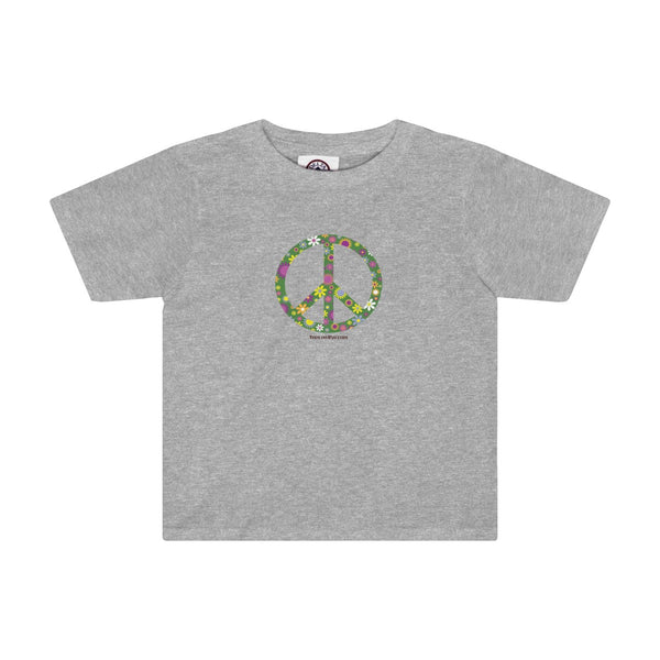 Flowerful Peace Sign on a Toddler Tee