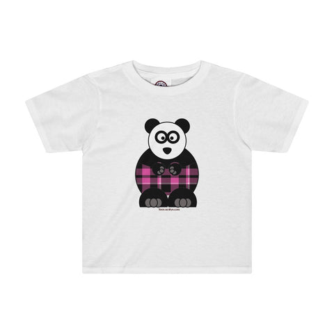 Plaid Panda on a Toddler Tee