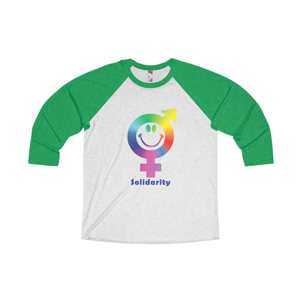 Express your solidarity with this Tri-Blend Unisex 3/4 Raglan Tee