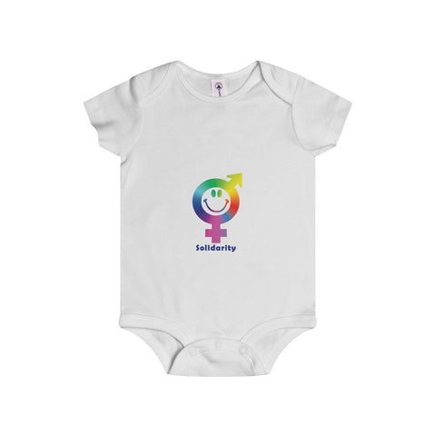 Express your solidarity on the adorable Infant Rip Snap Tee