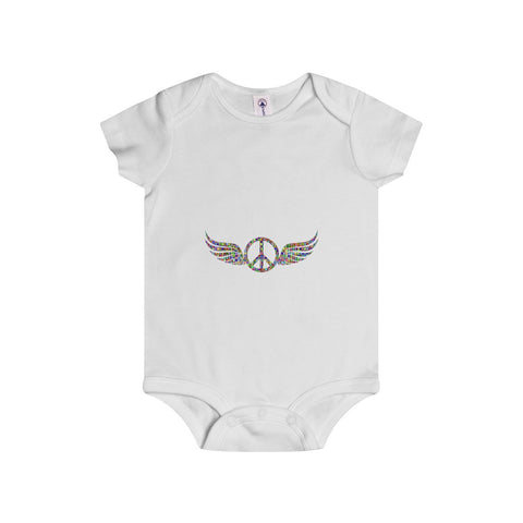Wings of Peace on an Infant Rip Snap Tee