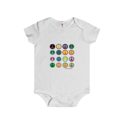 Express Peace on this adorable Infant Rip Snap Tee