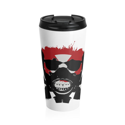 Rock this apocalyptic skull on a Stainless Steel Travel Mug