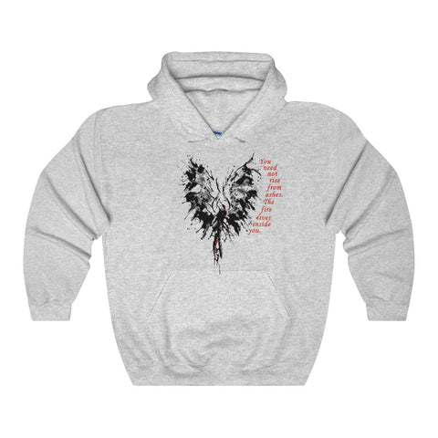 The Fire Inside... on our Heavy Blend Hooded Sweatshirt