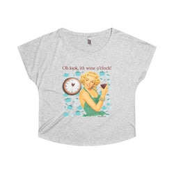 Look, it's wine o'clock! On thisTri-Blend Dolman Tee