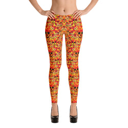 Skulls and Flowers spring leggings