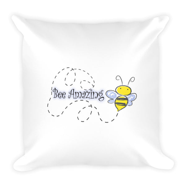 Bee Amazing Square Pillow to Support Planet Bee