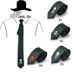 Fashion skull /cross-bone necktie in 4 options