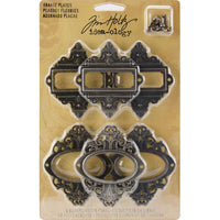 Idea-Ology Metal Ornate Plates W/Fasteners 2.25