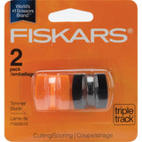 Fiskars TripleTrack High-Profile Replacement Blades 2/Pkg - Straight & Scoring, Style I