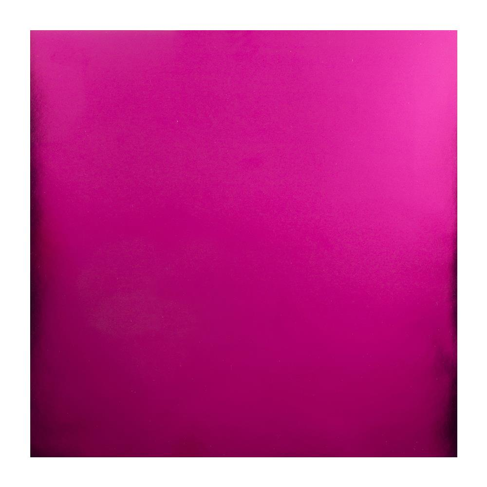 "Hot Pink Bazzill Foil Cardstock 12""X12"""