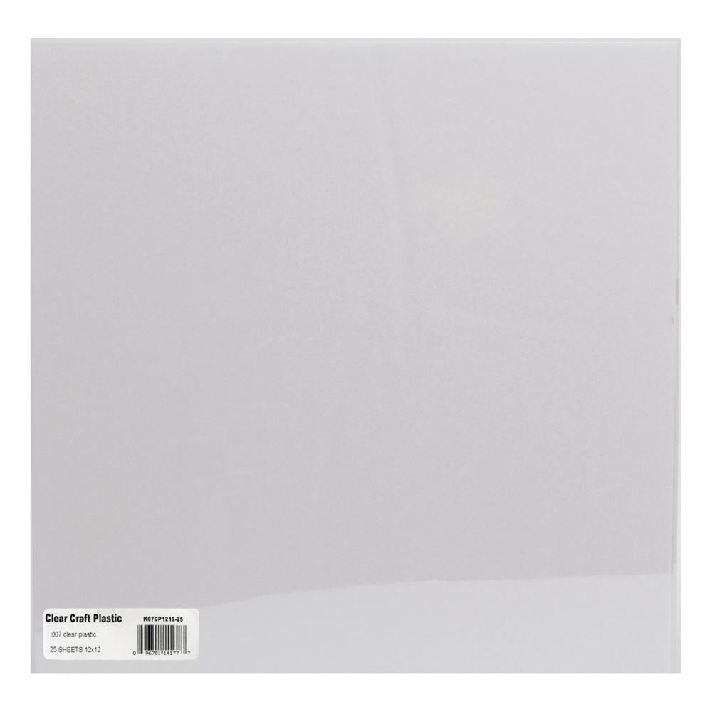 "Grafix Craft Plastic Sheets 12""X12"" - Clear .007 *BULKPRICE*"