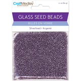 Silverlined Amethyst Glass Seed Beads