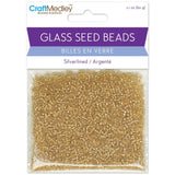 Silverlined Gold Glass Seed Beads