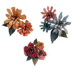 Sizzix Thinlits Dies By Tim Holtz 15/Pkg -Tiny Tattered Florals