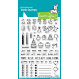 Lawn Fawn Clear Stamps - Plan On It: Birthday