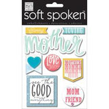 Me & My Big Ideas Soft Spoken Themed Embellishments - Caring Mother