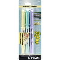 Pilot FriXion Light Pastel Erasable Highlighters 3/Pkg - Yellow, Blue & Pink