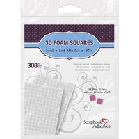 Scrapbook Adhesives 3D Self-Adhesive Foam Squares 308/Pkg 1/4