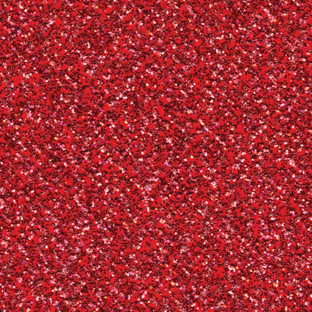 "American Crafts Glitter Silk Cardstock 12""x12"" - Red Flash"