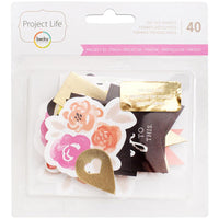 Project Life Ephemera Die-Cut Shapes 40/Pkg