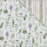 "Lavender Breeze Double-Sided Cardstock 12""X12"" Love Garden"