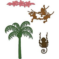 Plam Tree & Monkeys Cling Stamp Set HCPC-3777