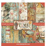 "Stamperia Double-Sided Paper Pad 12""X12"" - Time Is An Illusion, 10 Designs/1 Each"