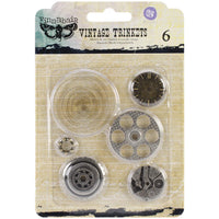 Finnabair Vintage Mechanicals Metal Trinkets Washers #2, 1