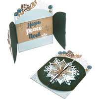 Snowflake Card, Flip And Fold - Sizzix 662282