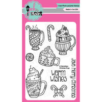 Pink & Main - Christmas Mugs Clear Stamp Set