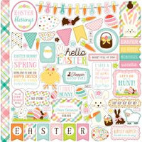 Hello Easter Cardstock Stickers 12