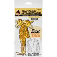 Art Impressions Twist Ties Stamp & Die Set - Giraffe