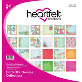 "Heartfelt Creations Double-Sided Paper Pad 12""X12"" 24/Pkg Butterfly Dreams, 12 Designs/2 Each"