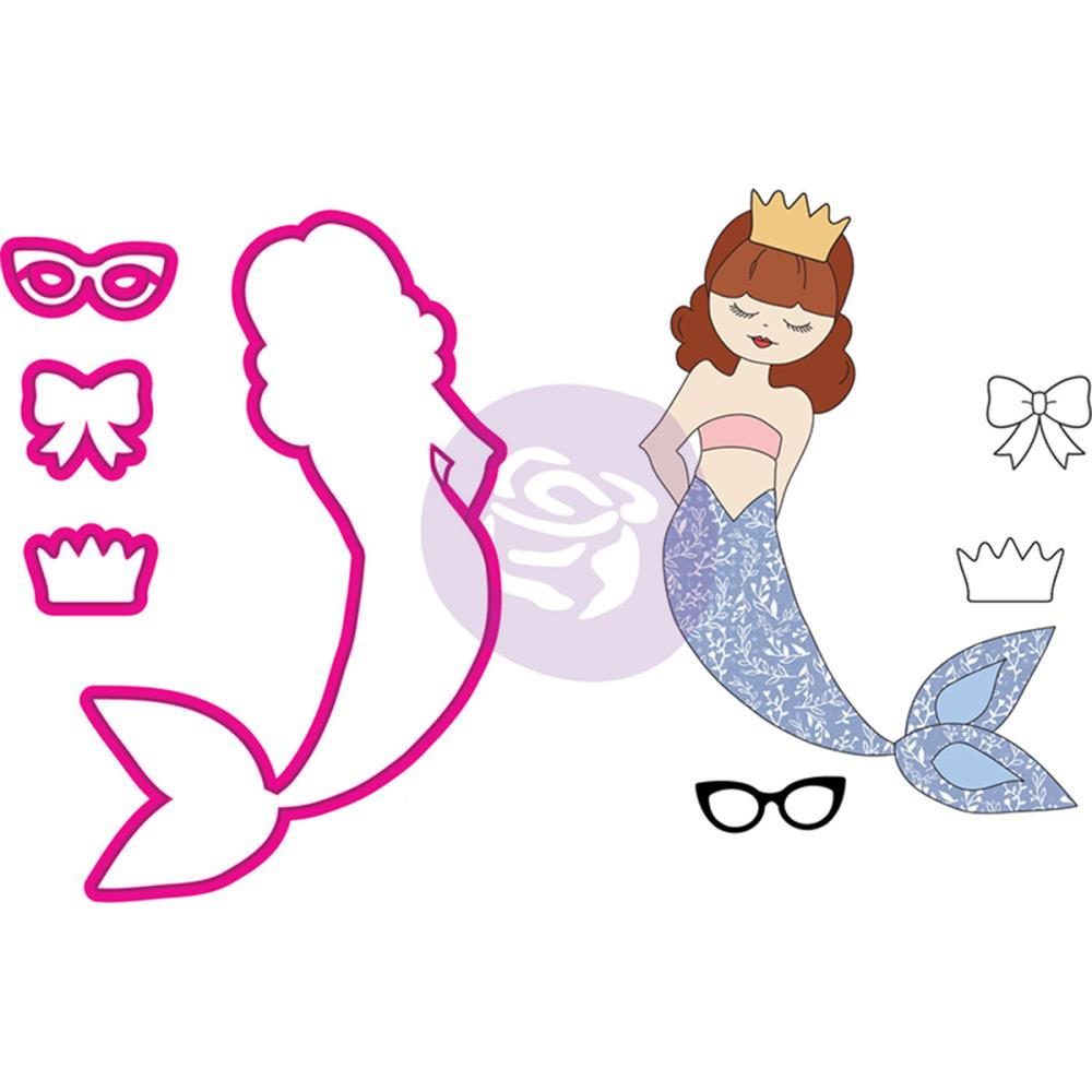 Julie Nutting Stamp & Die Set - Mermaid Kisses Hanalei Mermaid