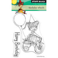 Penny Black Clear Stamps - Birthday Wheels