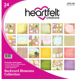 "Heartfelt Creations Double-Sided Paper Pad 12""X12"" 24/Pkg Backyard Blossoms, 12 Designs/2 Each"