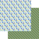 "Jurassic Double-Sided Cardstock 12""X12"" - T-Rex Reg. $1.29 Pre-order $1.09"