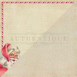 "Jingle Double-Sided Cardstock 12""X12"" - #1 Retro Santa"
