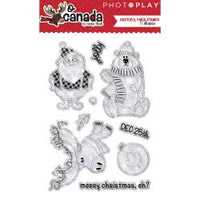 PhotoPlay Photopolymer Stamp - O Canada Christmas