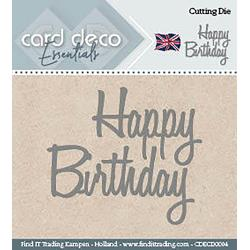 Find It Trading Card Deco Dies - Happy Birthday