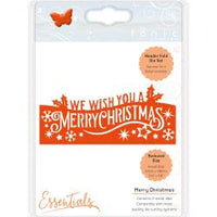 Tonic Studios Christmas Header Fold Die - Merry Christmas