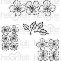 Heartfelt Creations Cling Rubber Stamp Set - Oakberry Lane Blossoms
