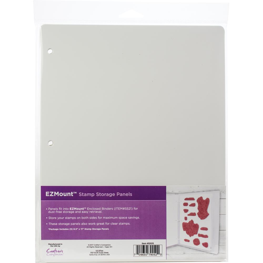 "EZMount Lightweight Stamp Storage Panels 5/Pkg - 8.5""X11"""